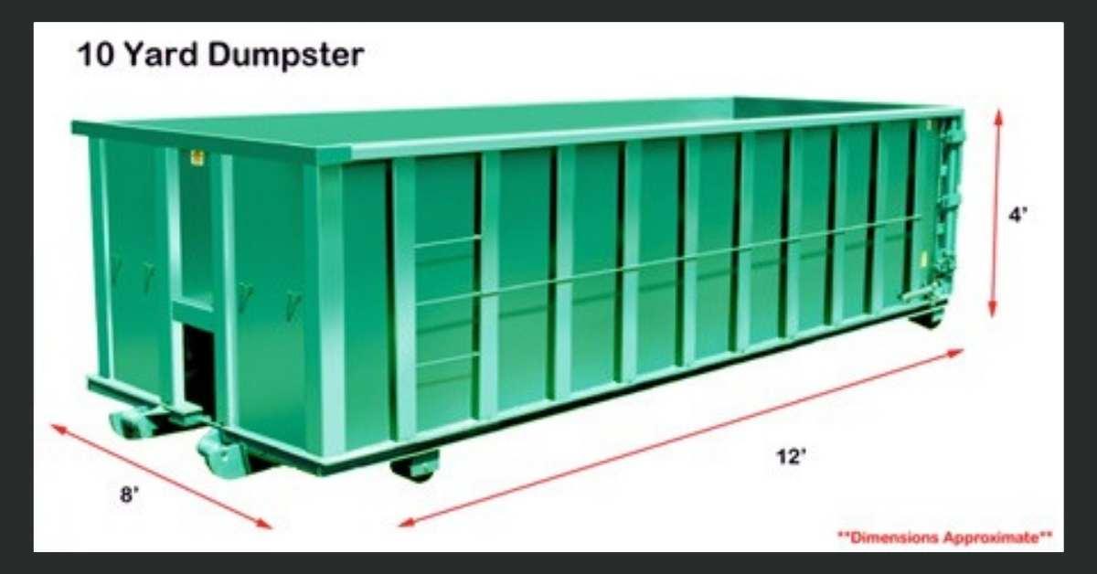 10 Yard Dumpster https://organicgardeningeek.com