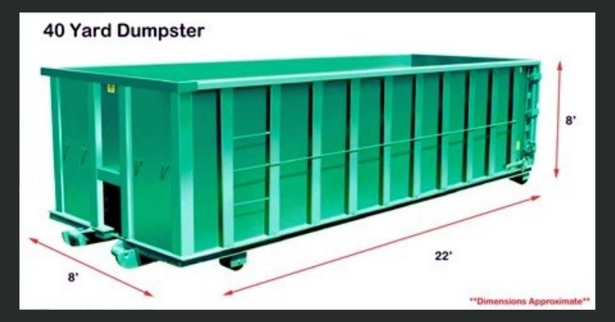 40 Yard Dumpster https://organicgardeningeek.com