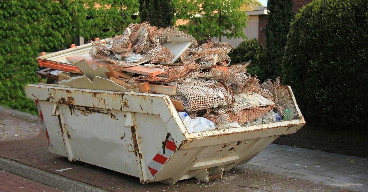 Do not overload the dumpster - how to choose the right size dumpster https://organicgardeningeek.com